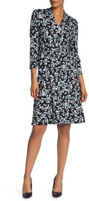 Velvet Torch V-Neck Ditsy Floral Dress