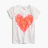 J.Crew Girls' splatter sequin heart T-shirt