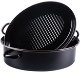 Kochstar 2059627 Cocotte Ovale de Tôle Acier Noir 38 cm