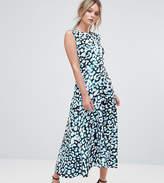 Every Cloud Leopard Print Midi Dress