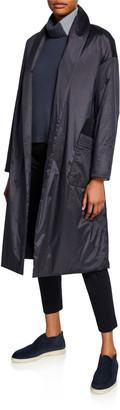 Loro Piana Techno Silk Princess Shawl-Collar Coat