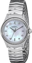 Ebel Women's 1216194 Wave Diamond-Accented Stainless Steel Watch