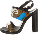 Balenciaga Printed Slingback Sandals