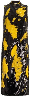 Ganni sleeveless sequinned midi dress
