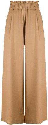 Semi-Couture High Waisted Wide Leg Trousers