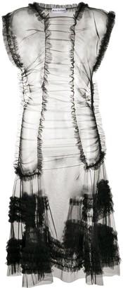 Molly Goddard Moss ruffled tulle dress