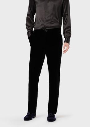 Giorgio Armani Slim-Fit Velvet Trousers