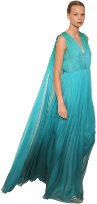 Alberta Ferretti Silk Chiffon Long Dress