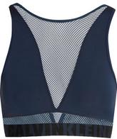 Calvin Klein Underwear Id Stretch-jersey And Mesh Soft-cup Bra - Midnight blue