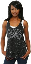 Mighty Fine womens Star Wars Force Awakens Star Background Juniors Racer Tank