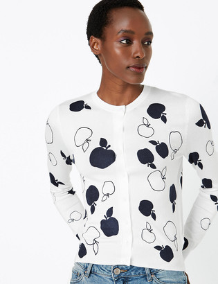 Marks and Spencer Apple Print Cardigan