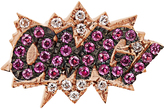 Diane Kordas Diamond, sapphire & rose-gold OMG! earring