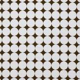 Bacati Percale Fitted Crib Sheet - Reverse Dots - White/Chocolate