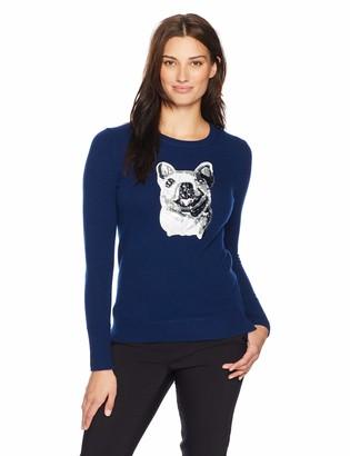 Lark & Ro Women's Crewneck Pullover Cashmere Sweater