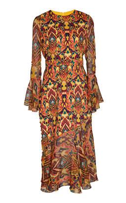 Prabal Gurung Rania Printed Silk Midi Dress