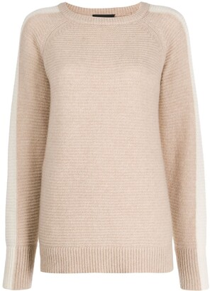 Cashmere In Love contrast side panel Morgan sweater