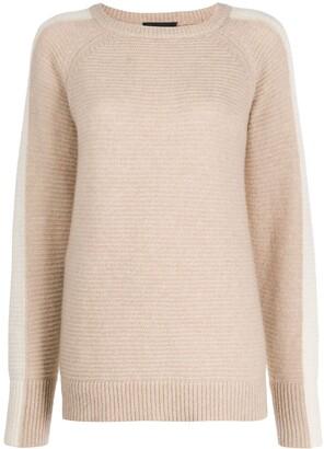 Morgan contrast side panel sweater