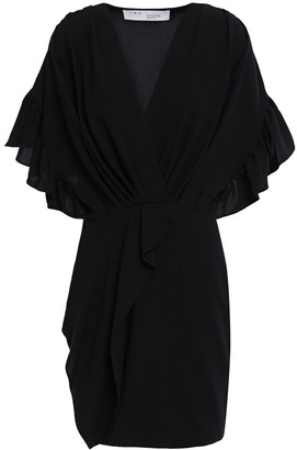 IRO Cedar Ruffle-trimmed Wrap-effect Crepe Dress