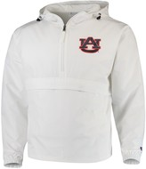 Champion Men's White Auburn Tigers Tailgate Packable Half-Zip Jacket