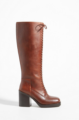 Jeffrey Campbell Tall Lace-Up Boots By in Brown Size 6