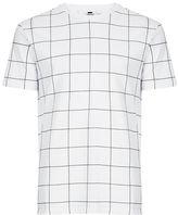 Topman White And Black Grid Check T-Shirt