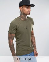 Puma T7 Logo Muscle Fit T-Shirt in Green 57443303