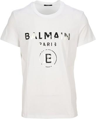 Balmain Foil Logo Crewneck T-Shirt