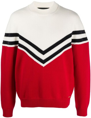 DSQUARED2 Intarsia-Knit Chevron Jumper