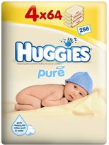 Huggies Pure Baby Wipes (64 per pack x 4)