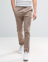 Asos Slim Chinos In Light Brown