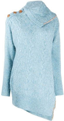 ANDERSSON BELL Alexis scarf neck cable jumper