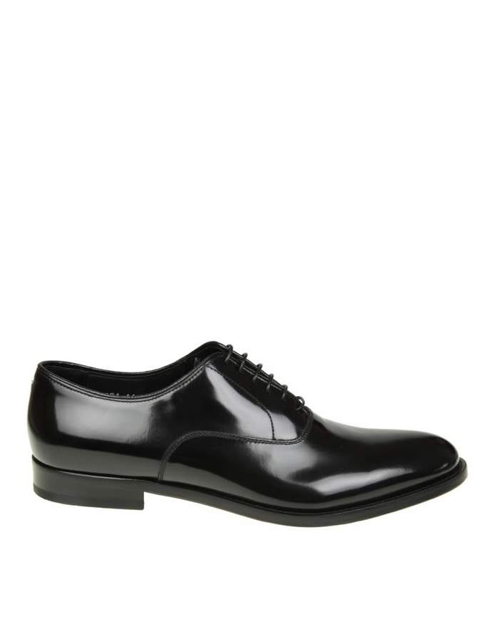 Doucal's oxford Shoe In Brushed Leather Color Black