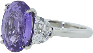Bayco Oval Natural Purple Sapphire and Diamond Ring