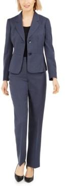 Le Suit Petite Two-Button Pantsuit