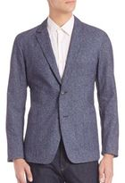 Z Zegna Long Sleeve Deconstructed Jacket