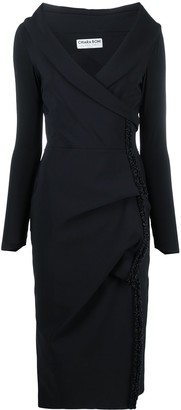 Le Petite Robe Di Chiara Boni Sarabi wrap-front mid-length dress