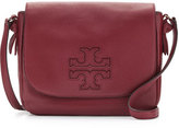 Tory Burch Harper Leather Messenger Bag, Dark Merlot