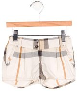 Burberry Girls' Exploded Check Mini Shorts w/ Tags