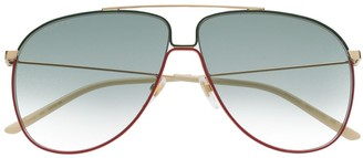 Gucci Web-Detail Aviator Sunglasses