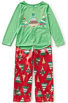 Komar Kids Little/Big Girls 4-16 Christmas Tree Top and Pants Sleep Set