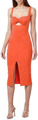 Significant Other Paloma Twist Keyhole Midi Dress