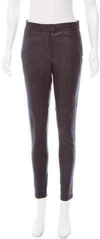 Givenchy Mid-Rise Leather Pants w/ Tags