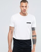 Solid Tailored & Originals T-shirt With Contrast Hem