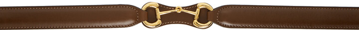 Thumbnail for your product : Gucci Brown Efesto Horsebit Belt