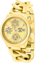 Jivago Womens Levley Gold-Tone Stainless Steel Bracelet Watch