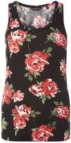 Dorothy Perkins Black And Red Rose Print Vest