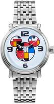 Disney Disney's Mickey Mouse Colorblock Men's Stainless Steel Watch