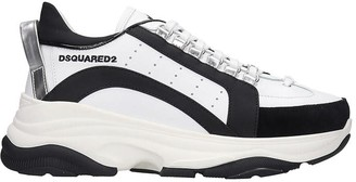 DSQUARED2 Bumpy 551 Sneakers In White Leather