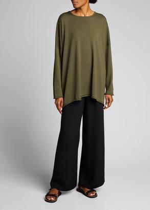 eskandar Cashmere-Blend Long A-Line Sweater