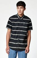 RVCA Drags Striped Short Sleeve Button Up Shirt